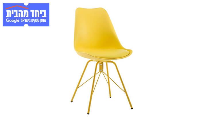 11 כיסא אוכל עם מושב מרופד