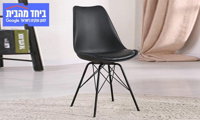 8 כיסא אוכל עם מושב מרופד