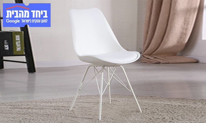 10 כיסא אוכל עם מושב מרופד