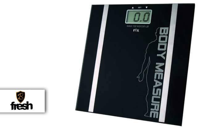 משקל דיגיטלי עם מד שומן