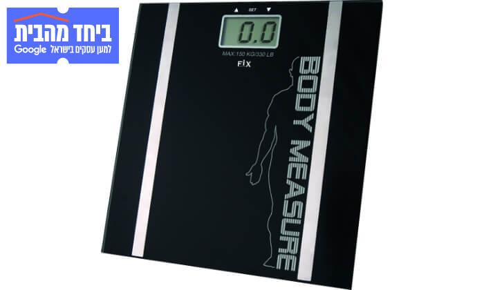 2 משקל דיגיטלי עם מד שומן FIX