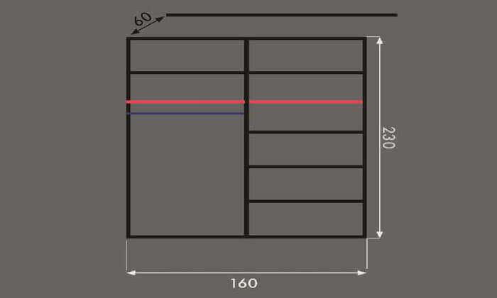 5 ארון הזזה 2 דלתות House Design - תוצרת כחול לבן