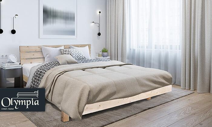 2 אולימפיה: מיטה מעץ מלא דגם 5014 עם מזרן