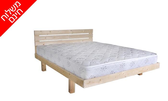 3 אולימפיה: מיטה מעץ מלא דגם 5014 עם מזרן - הובלה והרכבה חינם