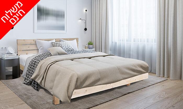 5 אולימפיה: מיטה מעץ מלא דגם 5014 עם מזרן - הובלה והרכבה חינם