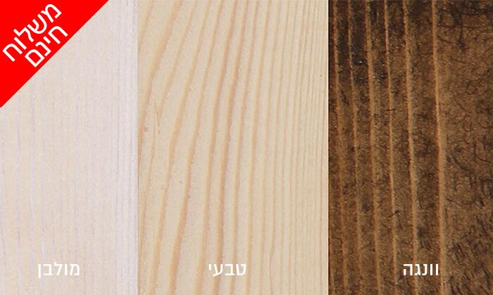 4 אולימפיה: מיטה מעץ מלא דגם 5014 עם מזרן - הובלה והרכבה חינם