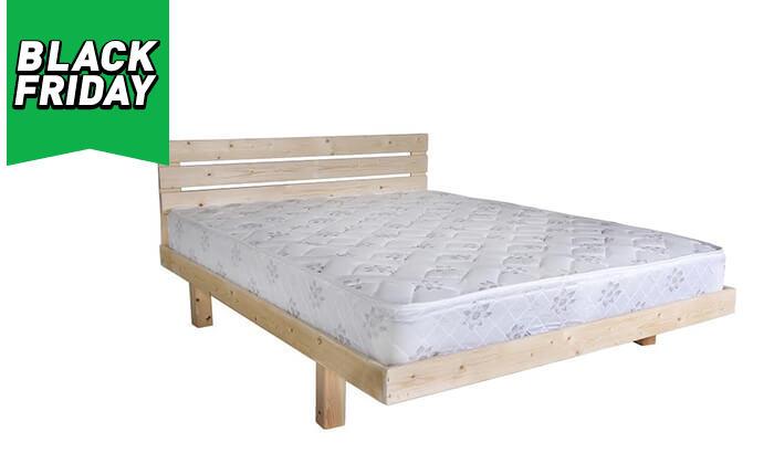 3 אולימפיה: מיטה מעץ מלא דגם 5014 עם מזרן