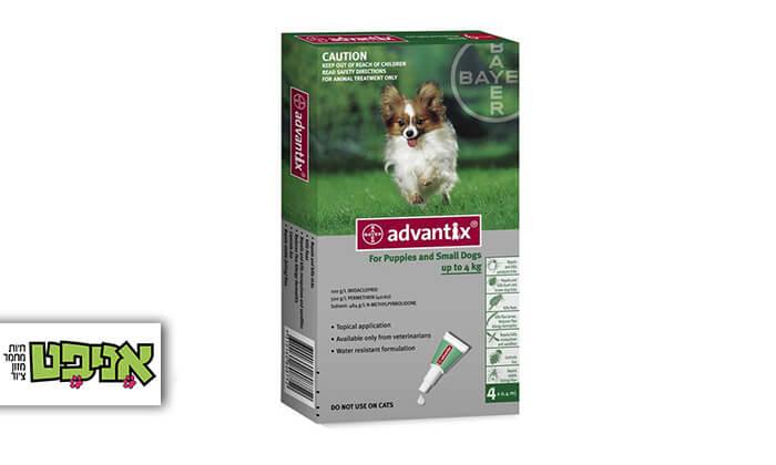 2 אמפולות Advantix למניעת פרעושים וקרציות בכלבים