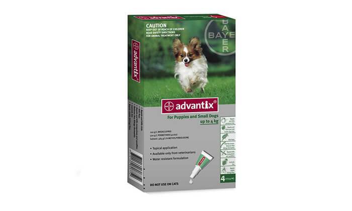 3 אמפולות Advantix למניעת פרעושים וקרציות בכלבים