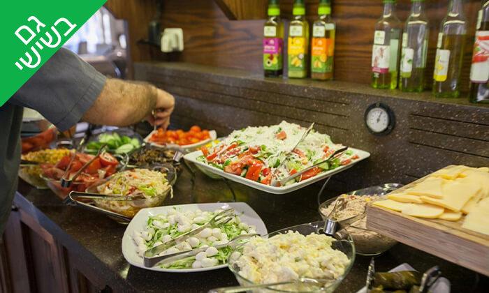 4 ארוחת בוקר בופה במלון הבוטיק קולוני, המושבה הגרמנית חיפה