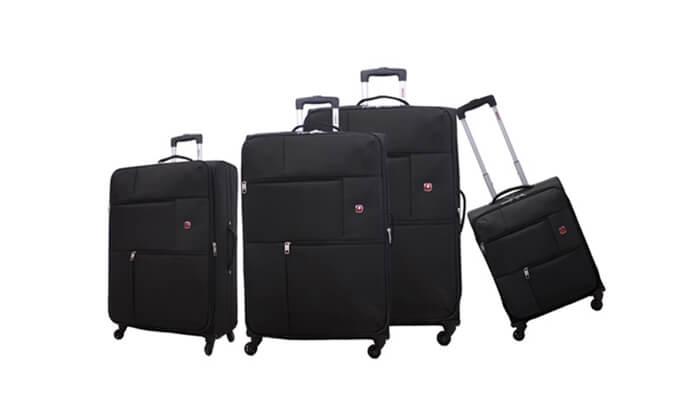 7 סט 3  מזוודות בד SWISS TRAVEL PREMIUM