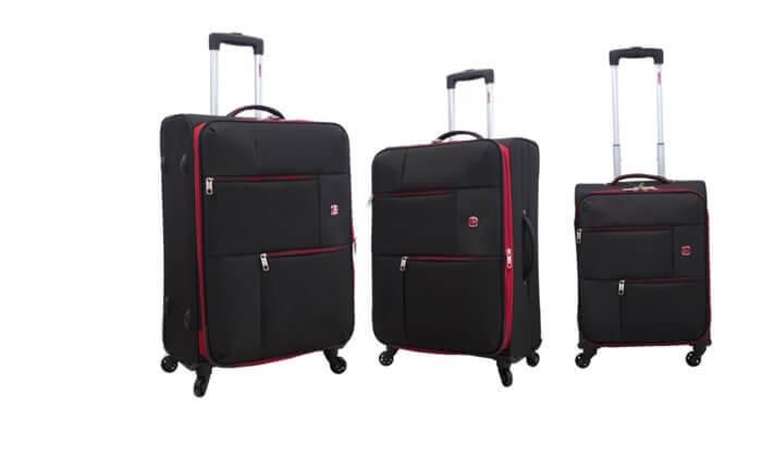 21 סט 3  מזוודות בד SWISS TRAVEL PREMIUM