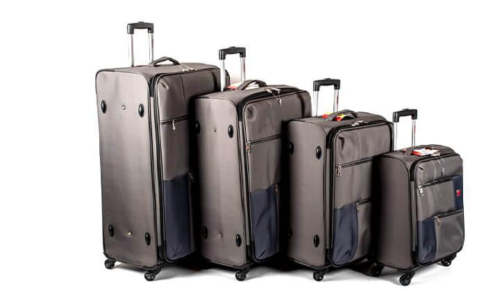11 סט 3  מזוודות בד SWISS TRAVEL PREMIUM