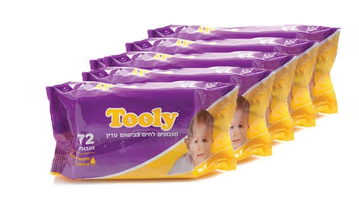 2 מארז 24 חבילות מגבוני Tooly - משלוח חינם