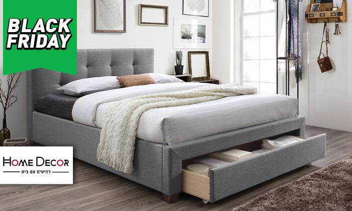 2 מיטה זוגית מרופדת הום דקור HOME DECOR דגם סרינה
