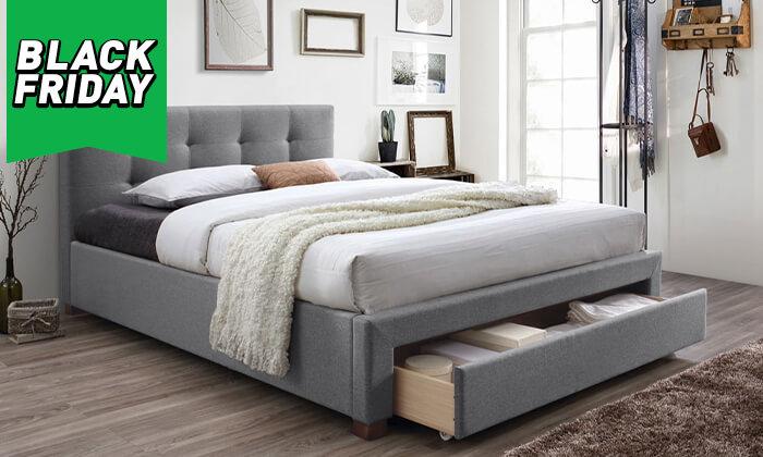 4 מיטה זוגית מרופדת הום דקור HOME DECOR דגם סרינה