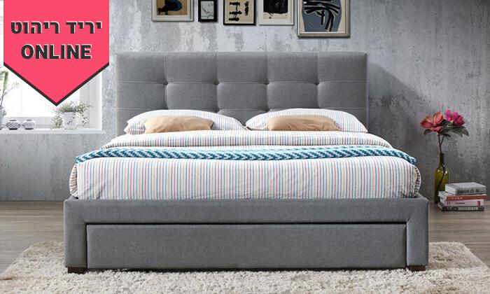 3 מיטה זוגית מרופדת הום דקור HOME DECOR דגם סרינה