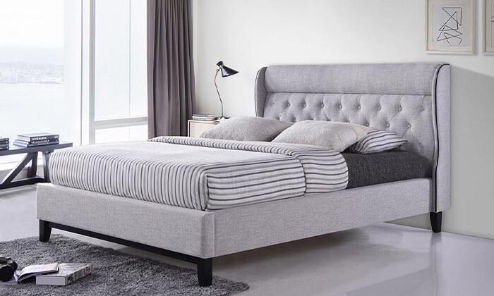 4 מיטה זוגית מרופדת הום דקור HOME DECOR, דגם פיונה