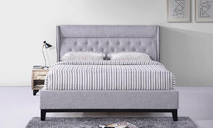 3 מיטה זוגית מרופדת הום דקור HOME DECOR, דגם פיונה
