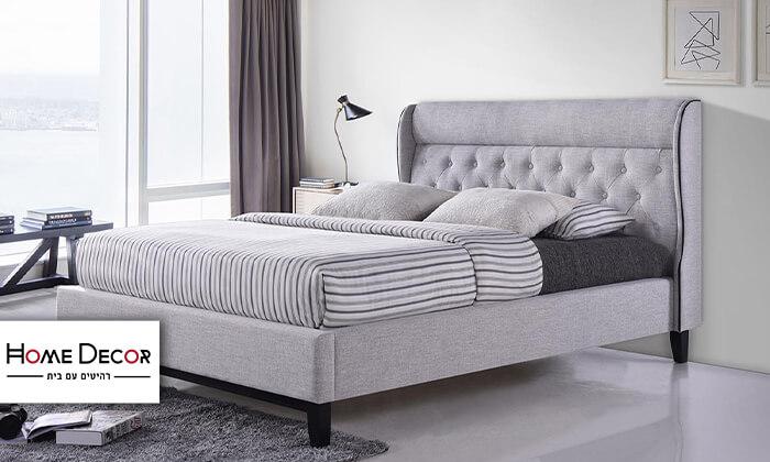 2 מיטה זוגית מרופדת הום דקור HOME DECOR, דגם פיונה
