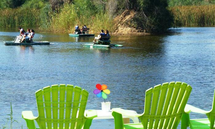 3 אגם ניצנים - כניסה למתחם עם אטרקציות לכל המשפחה