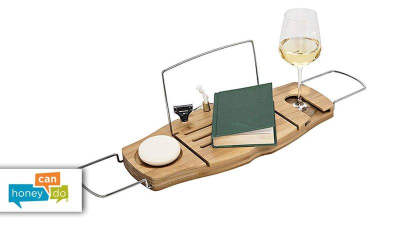 מגש לספר ולכוס יין לאמבטיה