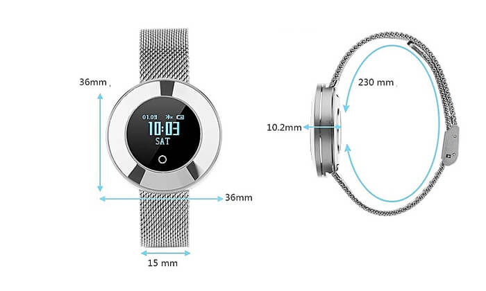 5 שעון חכם עם רצועת מתכת