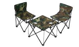 שולחן ו-2 כסאות קמפינג מתקפלים