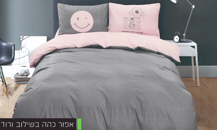 6 סט מצעים מיקרוסאטן למיטה זוגית