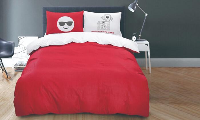 2 סט מצעים מיקרוסאטן למיטה זוגית
