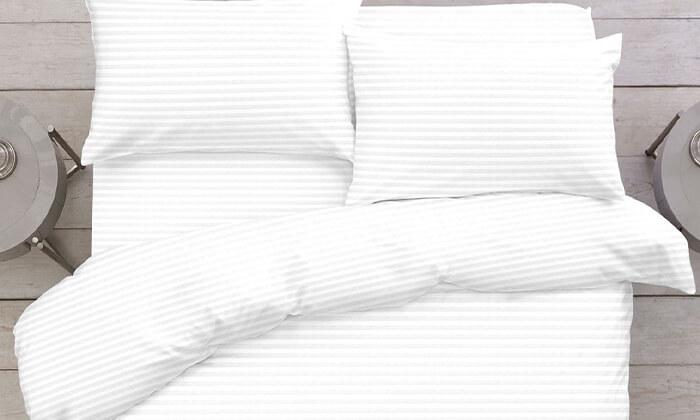 """3 ד""""ר גב: סט מצעים 100% כותנה למיטה זוגית - משלוח חינם!"""