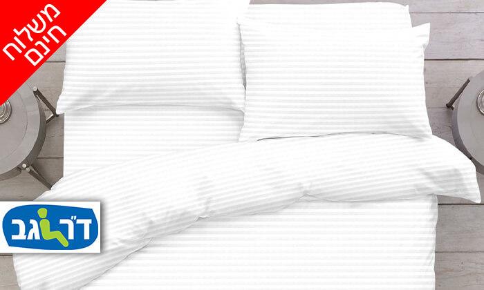 """2 ד""""ר גב: סט מצעים 100% כותנה למיטה זוגית - משלוח חינם!"""