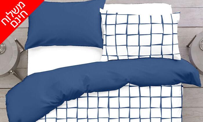 """3 ד""""ר גב: סט מצעים 100% כותנה למיטה ברוחב וחצי - משלוח חינם!"""