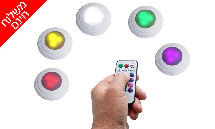 4 5 נורות לד אלחוטיות מחליפות צבעים-משלוח חינם