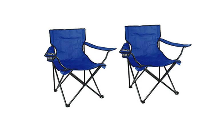 2 זוג כיסאות במאי מתקפלים