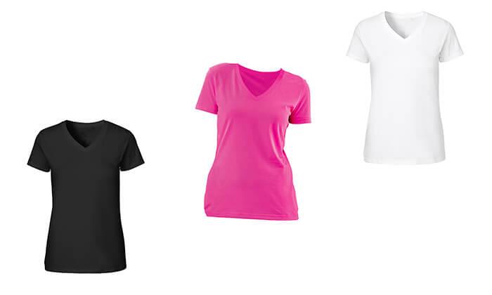 6 3 חולצות מנדפות זיעה לנשים T-Gold