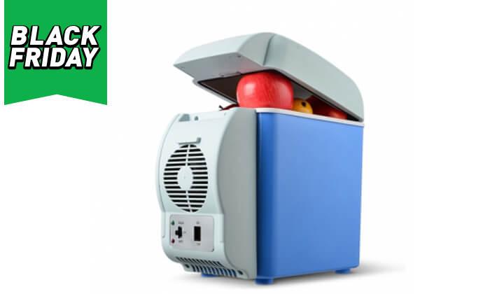 3 צידנית קירור חשמלית 7.5 ליטר לרכב ופחית ריח אורגני לבנדר