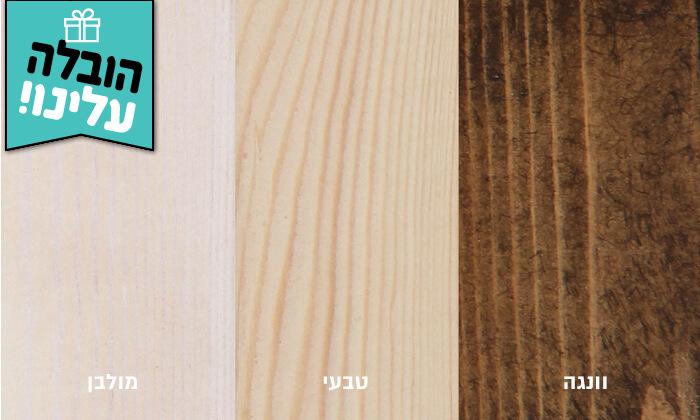 3 אולימפיה: מיטה מעץ מלא עם מזרן - הובלה והרכבה חינם