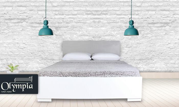2 אולימפיה: מיטה עם מזרן קפיצים