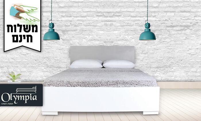 2 אולימפיה: מיטה עם מזרן קפיצים - משלוח חינם