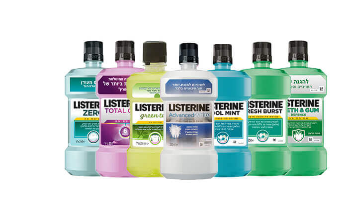 10 מארז 8 בקבוקי שטיפת פה ליסטרין Listerine