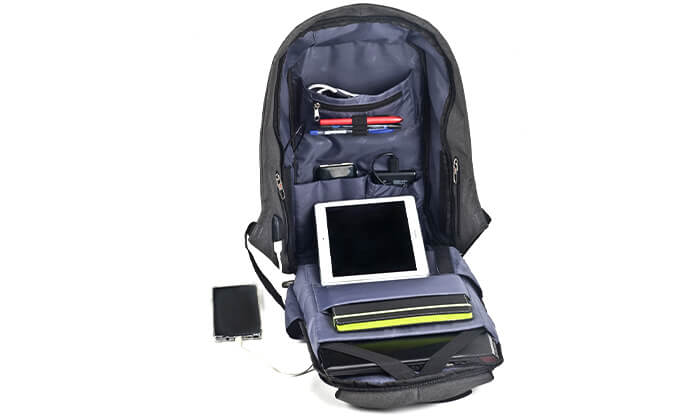 7 תיק נגד גניבות SWISS PROTECTOR למחשב נייד