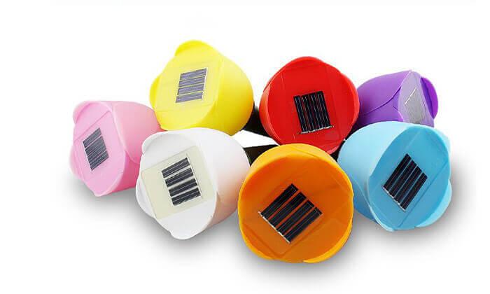 3 סט 6 מנורות טוליפ סולאריות