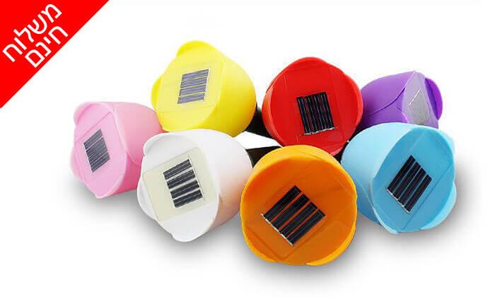 3 סט 10 מנורות טוליפ סולאריות - משלוח חינם