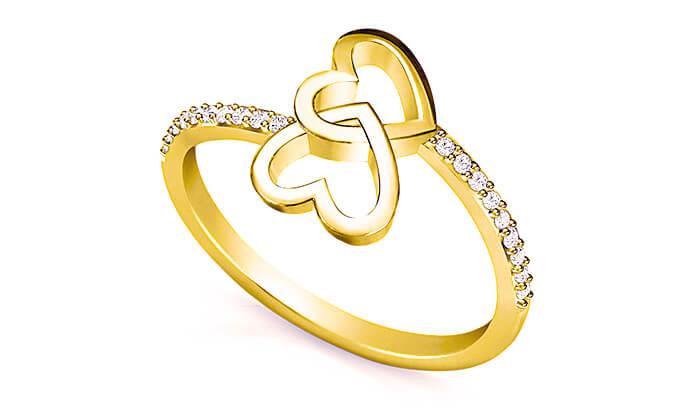 7 טבעת זהב ויהלומים 14K של GOLDIAM - משלוח חינם
