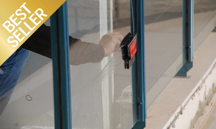 4 מנקה חלונות מגנטי דו-צדדי תוצרת כחול-לבן - משלוח חינם