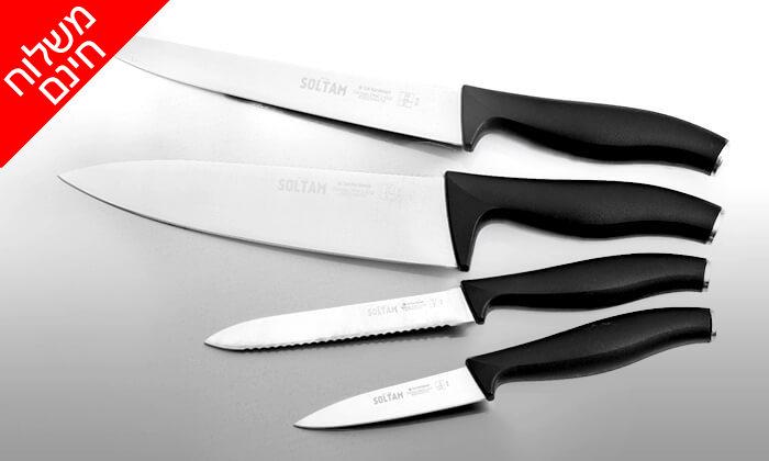 3 סט 4 סכינים מקצועיים סולתם SOLTAM - משלוח חינם