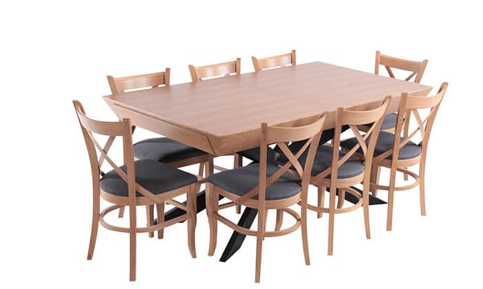 3 פינת אוכל נפתחת עם 6 כיסאות HOME DECOR