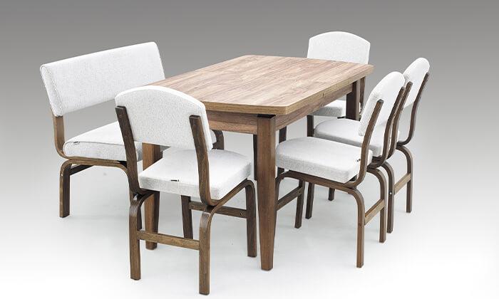 3 פינת אוכל עם 2 כסאות וספסל אור דיזיין Or Design