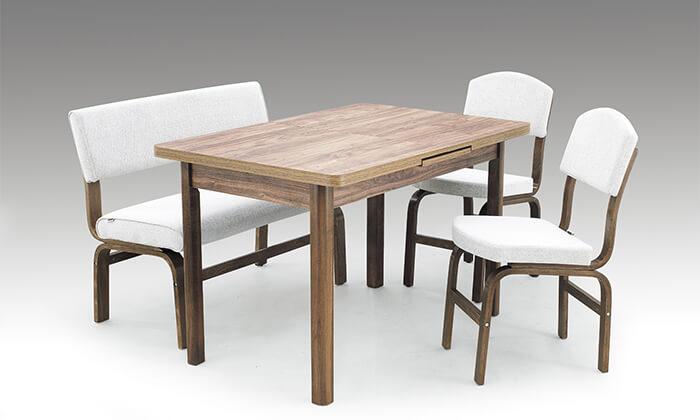 4 פינת אוכל עם 2 כסאות וספסל אור דיזיין Or Design